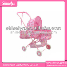 SL-018 2014 new design baby doll stroller iron pink lovely wholesale quinny with high quality for kids