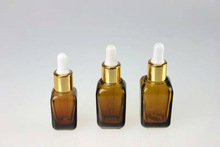 2014 China Colored Essential Oil Bottle 15/25/35ML, Square Glass Bottles With Dropper HS-C-2