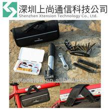 Portable Cycling Bike Bicycle Tool Bag with Tyre Repair Tool Kit Mini Pump