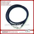 Xd mf006 2.0mm tessuto di cotone cavo collana con 925 sterline argento chiusura aragosta collana cordone di seta con chiusura
