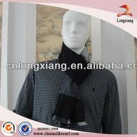 Excellent Arab Men Plaid New Black & Grey Striped Silk Scarf Bound
