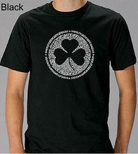 Unisex Fashion Printed T shirt Irish Shamrock-graphic Tee