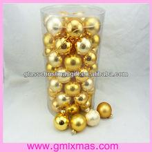 2015 christmas tree decoration glass ball, barrel packing glass ornaments plain glass ball for christmas tree ornaments