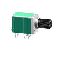 9mm size dual gang potentiometer with switch