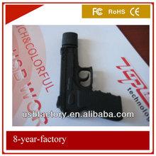 cutomise pvc gun usb flash drive