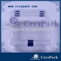 Clear transparent plastic denture storage membrane box mouthguard Case Box