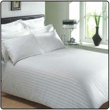 hotel 100%cotton white satin stripe duvet cover