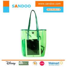 2015 waterproof clear pvc beach tote bag for lady women