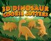 3d dinosaur plastic cookie cutter