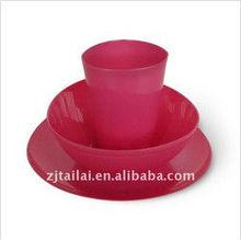 Plastic triangular bowl