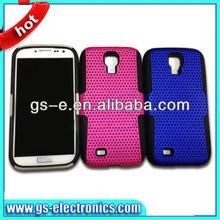 plastic+silicon samsung galaxy s4 mesh case cover