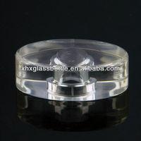 crystal oval shape glass perfume bottle cap