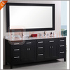 Rubber wood Bathroom vanity with marble top and framed mirror