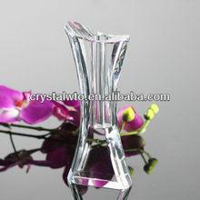 Clear simple crystal vase