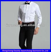 Vendas quentes!!! Novo modelo branco party wear camisas para os homens