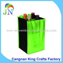 100g Non Logo NON-woven Wine Carrying Bags, Non Woven Wine Bottle Tote Bag