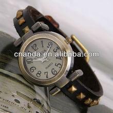 GL1004 New Low Prices Fancy Geneva Quartz Genuine Leather Watch Strap