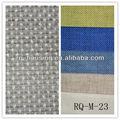 Tecido de linho cru do fundo de tecido do sofá de algodão forro de tecido rq-m-23