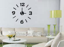Removable 3D DIY sticker wall clock