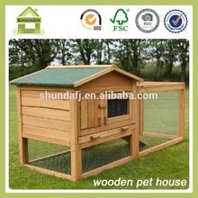 SDR15 waterproof wooden pet house rabbit run designs