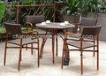 Outdoor móveisdebambu, bambu mesa de jantar e cadeiras.