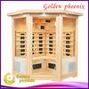 2013 New Luxury Indoor Sauna Equipment Ceramic Heater Sauna Room G3CTPN Hemlock Wood Far Infrared Sauna Cabin