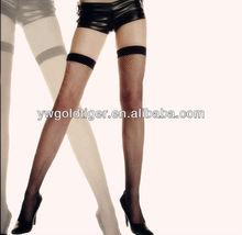 Fashion Vintage Retro Aztec Tribal Elastic Top High Thigh Fishnet Nylon Black Stockings