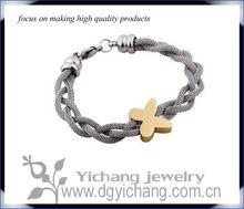 316L Stainless Steel gold Letter X Bracelet For Women
