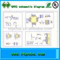 Gprs PCB PCBA asamblea GPRS diagrama esquemático