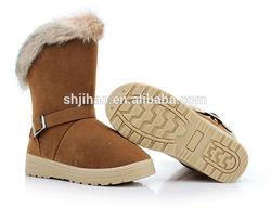 Wholesale Fashion Women Half Boot Winter OEM Snow Fur Boot
