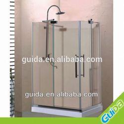classic shower room,sliding glass simple shower room,checp shower room