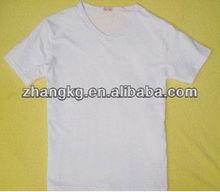 blank V collar t shirt
