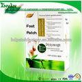 2014 de cuidado de salud vinagre de bambú desintoxicación pie parche/esterasdecoches del pie
