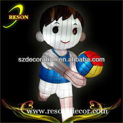hot sale H:80cm sporting boy fabric christmas decoration inflatable boy