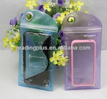 2014 PVC Waterproof Bag for iPhone5 Packaging Bag Ziplock Baggies waterproof bag