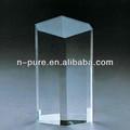 en blanco de cristal de cuarzo prismas