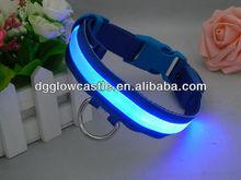 fish silk web ribbon colorful flashing LED dog collar