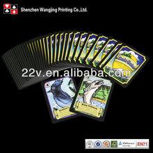 Crianças personalizado impressão de cartões de jogo, Azul núcleo de papel de impressão de cartões de jogo