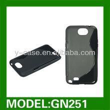 S shape design TPU case for Samsung galaxy note II N7100