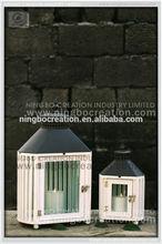Hot sale decorative wooden hurricane lantern for house & garden decoration
