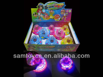 spin toy,super spinning top toys with light and music