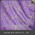 Transpirable de color púrpura de fondo impreso que hace punto la tela para la ropa interior, camisa deportiva y trajes de baño