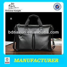 black and soft leather laptop bags for man