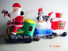 Nice inflatable christmas santa and train decorations/For christmas decoration