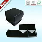 Luxury OEM black folding paper gift box with magnetic closure