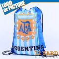 Argentina poliéster saco de sapatos de futebol cordão de malha saco ginásio de esportes sacos