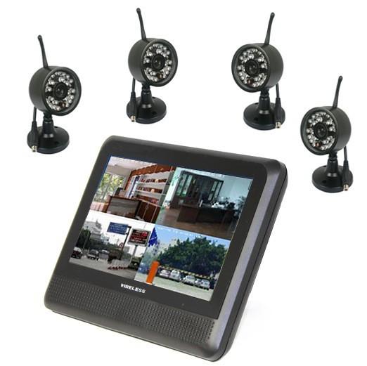 7inç monitör kablosuz dvr kitleri cctv kamera sistemi