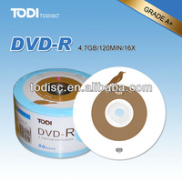 Original material blank dvds for sale with 4.7GB/120MIN /16x/8x data recording in bulk
