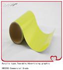 High quality vinyl type mylar reflective sticker/film yellow