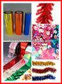 De colores decorativos glitter pet/lentejuelas película